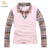 Burberry Manches Longue T Shirt Femme Polo Beige Outlet Paris