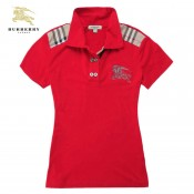Burberry Polo Manches Courte Rouge T Shirt Femme Boutique Paris