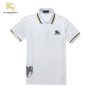 Burberry Manches Courte Uni Blanc T Shirt Homme Polo Outlet Londres