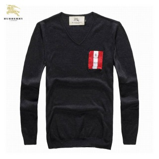 Burberry Pull Homme Noir Manches Longue Pullover Destockage