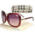 Burberry Rectangle Lunettes Cerclee Rouge Boutique Paris