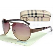 Burberry Aviateur Cerclee Lunettes Marron Imper Occasion