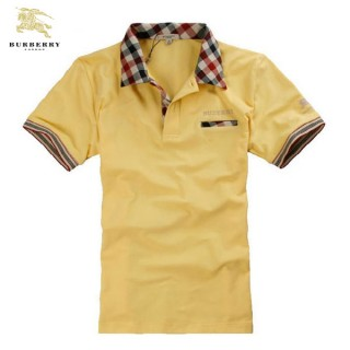 Burberry La T Shirt Homme Polo Manches Courte Jaune Uni Boutique Paris