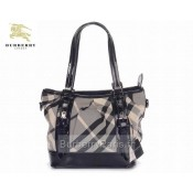 Burberry Sacs Tote Noir Smoked Check Sac Femme Boutique Paris