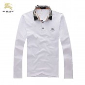 Burberry Blanc Polo T Shirt Homme Manches Longue Official Website