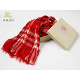 Burberry Echarpe Foulard Cachemire Rouge Trench Soldes