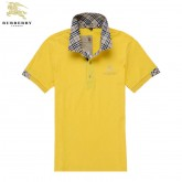 Burberry T Shirt Homme Manches Courte Polo Uni Jaune Ballerines