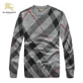 Burberry Lunettes Rayures Pull Homme Pullover Col Rond Manches Longue Gris Boutique Lyon
