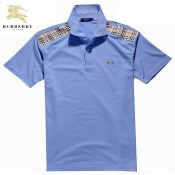 Burberry Bleu Polo Manches Courte Uni T Shirt Homme Trench Prix