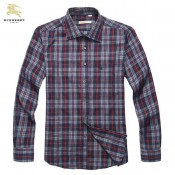 Burberry Manches Longue Gris Chemise Homme Outlet Store
