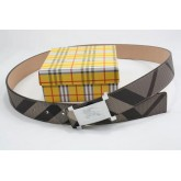 Burberry Urbain Rayures Ceinture reversible Multicolor Cravate