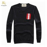 Burberry Pullover Noir Manches Longue Pull Homme Col V Boutique Lille