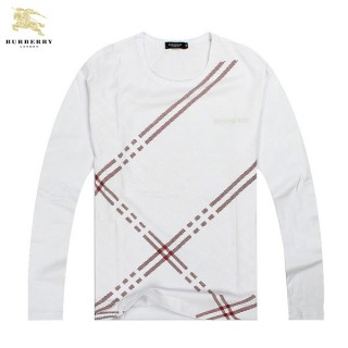 Burberry Rayures Col Rond T Shirt Homme Manches Longue Outlet Londres