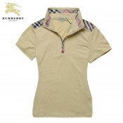 Burberry Uni Polo Jaune T Shirt Femme Manches Courte Online Shop