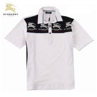 Burberry Manches Courte T Shirt Homme Blanc Polo Magasin Paris