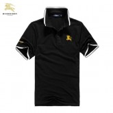 Burberry Polo Uni Noir T Shirt Homme Manches Courte Magasin France