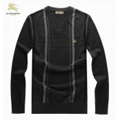 Burberry Pull Homme Gris Manches Longue Col V Pullover Online Shop