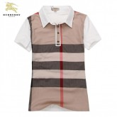 Burberry Web2017 Manches Courte T Shirt Femme Rayures Polo Foulard Soie