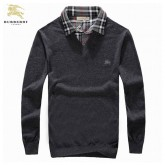 Burberry WebManches Longue Gris Pull Homme Pullover Magasin Paris