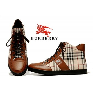 Burberry Chaussure Homme Lacets Basket Montantes Beige Impermeable