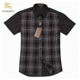 Burberry Chemise Homme Gris Manches Courte Robe Fille