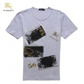 Burberry T Shirt Homme Col Rond Gris Manches Courte France
