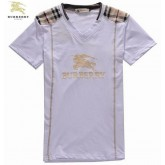Burberry Manches Courte Col V Blanc T Shirt Homme Portefeuille
