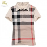 Burberry Manches Courte T Shirt Femme Polo Gris Carreaux Boutique Paris