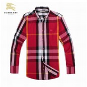 Burberry Manches Longue Rouge Chemise Homme Carreaux Trench Occasion