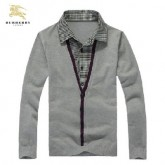 Burberry Pull Homme Gris Pullover Petit Foulard
