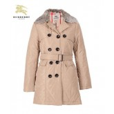 Burberry Uni Manteau Polo Manches Longues Veste Femme Beige Boutons Magasin France