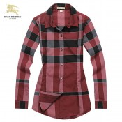 Burberry Marron Chemise Femme Manches Longue Magasin Marseille