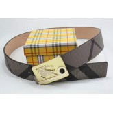 Burberry Chic Noir Rayures Ceinture reversible Factory Outlet