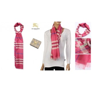 Burberry Echarpe Rose Manteau