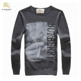 Burberry Gris Manches Longue Pull Homme Pullover Portefeuille