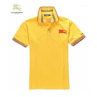 Burberry Jaune Polo Manches Courte T Shirt Homme Logo Official Website