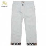 Burberry Pantalon Femme Pantacourt Uni Blanc Fashion Ballerines