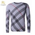 Burberry Pull Homme Pullover Manches Longue Col Rond Gris Parfum Brit
