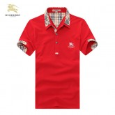 Burberry La Rouge Uni Manches Courte Polo T Shirt Homme France