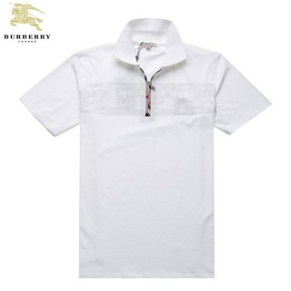 Burberry Manches Courte Blanc T Shirt Homme Polo Official Website