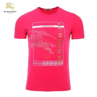 Burberry Manches Courte Col Rond Serigraphie Rouge T Shirt Homme En Ligne