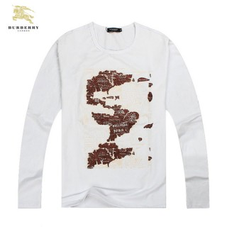 Burberry Serigraphie Col Rond T Shirt Homme Manches Longue Trench Occasion