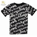 Burberry Blanc T Shirt Homme Serigraphie Col Rond Manches Courte Trench Occasion