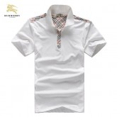 Burberry Blanc Polo Uni T Shirt Homme Manches Courte Online Store