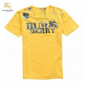 Burberry Jaune Manches Courte Col Rond T Shirt Homme Cara Delevingne