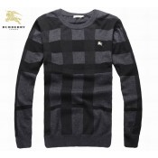 Burberry Pull Homme Col Rond Pullover Manches Longue Multicolor Veste Reversible