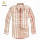 Burberry Manches Longue Beige Chemise Homme Outlet Store
