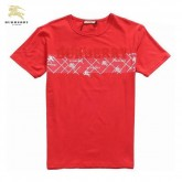 Burberry Uni Manches Courte Col Rond T Shirt Homme Rouge Trench Prix