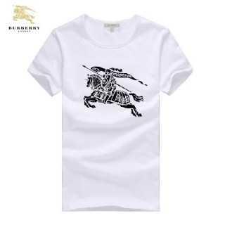 Burberry T Shirt Homme Blanc Col Rond Manches Courte Outlet Store Online
