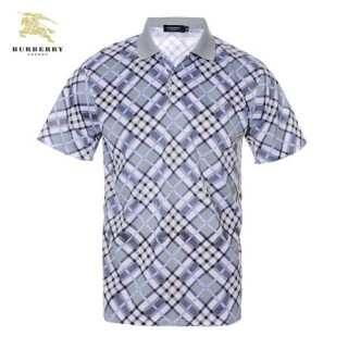 Burberry 2017 Manches Courte T Shirt Homme Polo Carreaux Fragrance